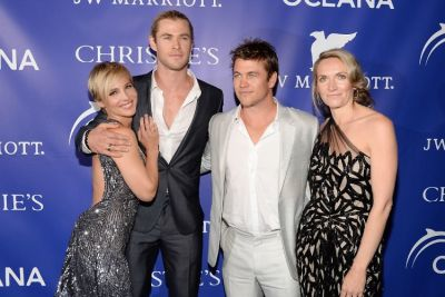 Elsa Pataky, Chris Hemsworth, Luke Hemsworth, Samantha Hemsworth