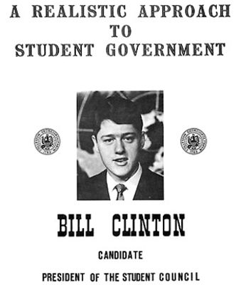 Bill Clinton For Student Council President