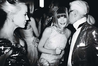 Daphne Guinness, Karl Lagerfeld, Anna Wintour