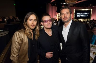 Jared Leto, Bono, Guy Oseary