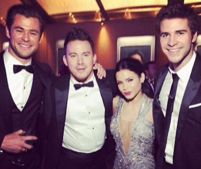 Chris Hemssworth, Channing Tatum, Jenna Dewan, Liam Hemsworth
