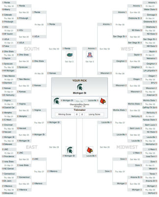Obama's March Madness Bracket Predicts Michigan State Winning