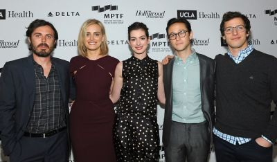 Casey Affleck, Taylor Schilling, Anne Hathaway, Joseph Gordon-Levitt, and Andy Samberg