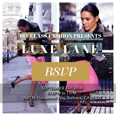 You're Invited: 1st Class Fashion Hosts