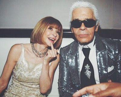 Anna Wintour, Karl Lagerfeld