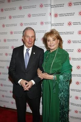 Barbara Walter and Mayor Bloomberg