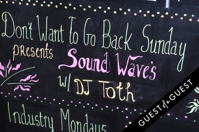 michelle gongalez in SOUND WAVES presents Don't Want To Go Back Sundays Featuring Maachew Bentley