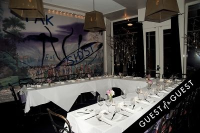 Fausto Puglisi celebrates his Emanuel Ungaro FW15 Collection with an intimate dinner at Wallse