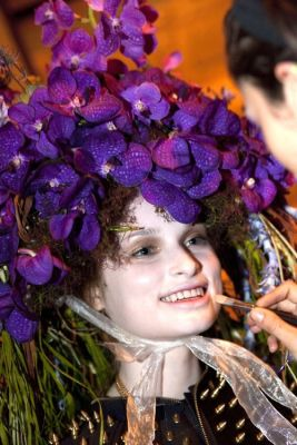 VillageCare's Tulips and Pansies Headdress Runway Show