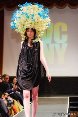 jules kirby in VCNY - Tulips & Pansies- A Headdress Affair - Runway and Backstage