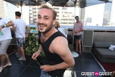 kristian laliberte in Standard Hotel Rooftop Pool Party