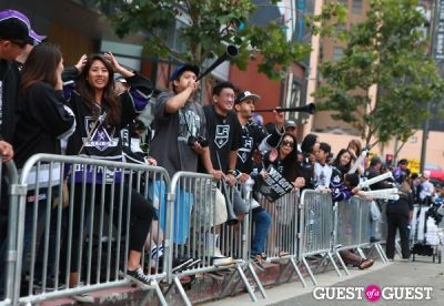 devorah rose in LA KINGS Parade and Rally