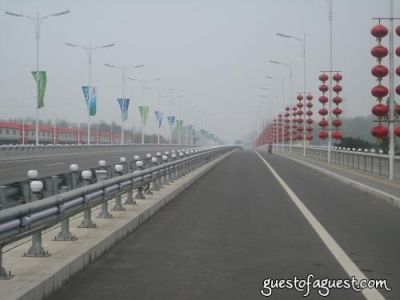 Empty Beijing Roads Before Olympics