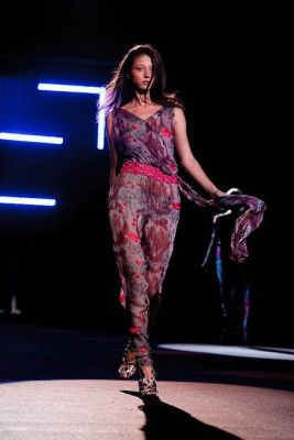tia walker in Custo Barcelona Runway Show at the Bryant Park Tents