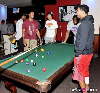 tyler boyd in NY Giants Training Camp Outing at Frames NYC