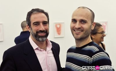 adam greenberger in Mauro Bonacina exhibition opening reception