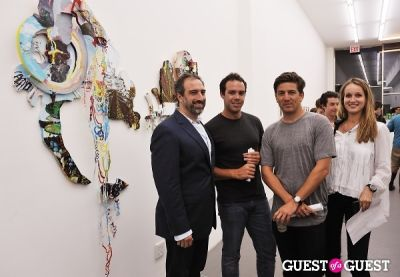 adam greenberger in Third Order exhibition opening event at Charles Bank Gallery