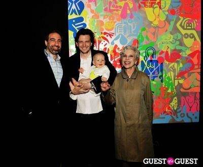 evelyn mcginness in Ryan McGinness - Women: Blacklight Paintings and Sculptures Exhibition Opening