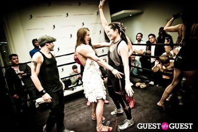 alea kedziora in Celebrity Fight4Fitness Event at Aerospace Fitness