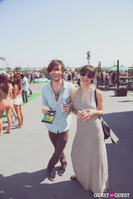 adam palermo in FILTER x Burton LA Flagship Store Rooftop Pool Party With White Arrows