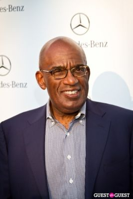 al roker in Mercedes Benz Manhattan Grand Opening