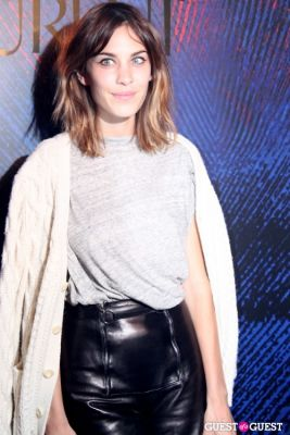 alexa chung in Yves Saint Laurent Fragrance Launch