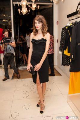 alexa chung in Moschino Celebrates Fashion's Night Out 2012