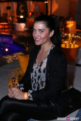 alexis linkletter in Veuve Clicquot Champagne celebrates Clicquot in the Snow