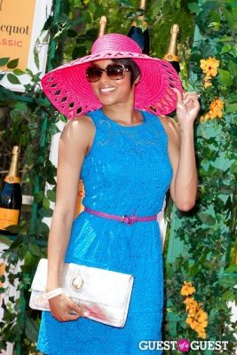 alicia quarles in Veuve Clicquot Polo Classic 2013