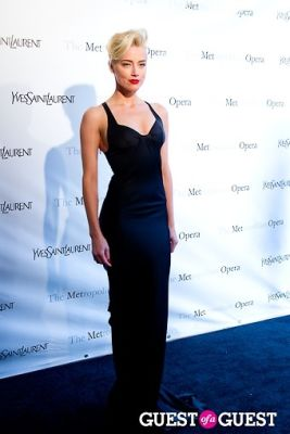amber heard in Yves Saint Laurent Sponsors The Metropolitan Premiere of Jules Massenet's Manon