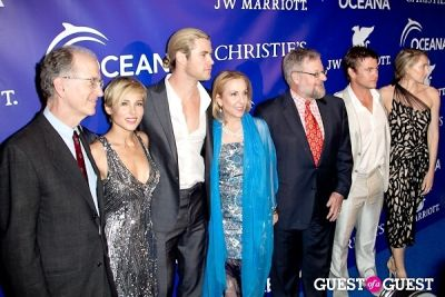 chris hemsworth in Oceana's Inaugural Ball at Christie's