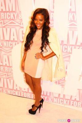 angela simmons in MAC Viva Glam Launch with Nicki Minaj and Ricky Martin