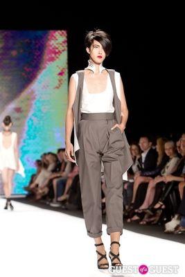 anna kanehara in Project Runway Fashion Show