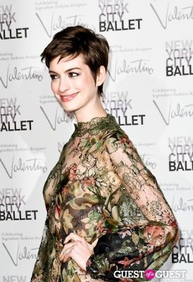 anne hathaway in New York City Ballet Fall Gala Celebrates Valentino
