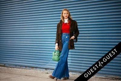 annie georgia-greenberg in NYFW Street Style Day 5