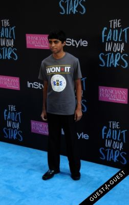 ansun sujoe in The Fault In Our Stars Premiere