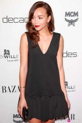 "ashley madekwe in Harper's Bazaar to Celebrate Cameron Silver & Christos Garkinos of Decades and Bravo's ""Dukes of Melrose"""