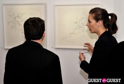 aurelie naderzad in Joseph Ryan - New Works exhibition opening at Galerie Mourlot