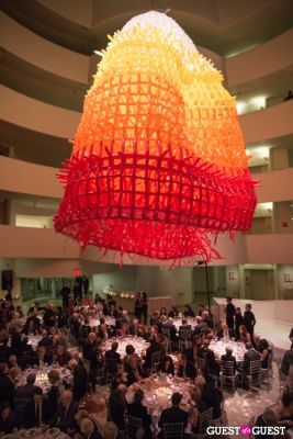 temporary latex-balloon-installation-by-jason-hackenwerth in Guggenheim Works and Process Gala 2014