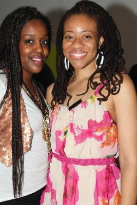 ayana evans-and-samia-grand-pierre in Corno Studio Warming Party