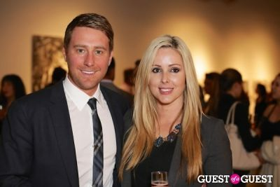 beck bennett in IvyConnect Art Gallery Reception at Moskowitz Gallery