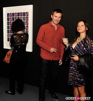 ben rubin in Ryan McGinness - Women: Blacklight Paintings and Sculptures Exhibition Opening
