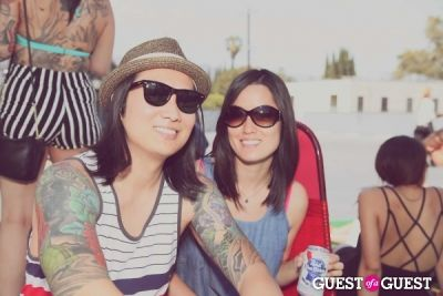 judy park in FILTER x Burton LA Flagship Store Rooftop Pool Party With White Arrows