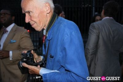 bill cunningham in The Frick Collection's Summer Garden Party
