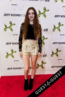 birdy in Jeff Koons for H&M Launch Party