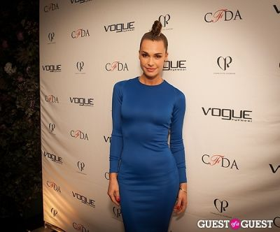 blanda eggenschwiler in 2014 Vogue Eyewear/CFDA Design Series Featuring Charlotte Ronson
