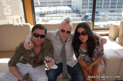 izzy gold in Rooftop Brunch at Hudson Terrace