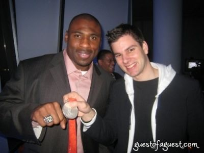 brandon jacobs in Tim and Jason at the SI Party and Aspen