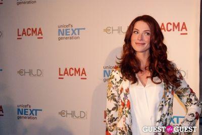 bridget regan in UNICEF Next Generation LA Launch Event