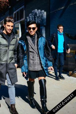 bryan yambao in NYFW Street Style Day 1